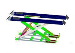 Makaslı Bakım Lifti Play Dedektörlü (4200KG) Zemin Altı(ENK-BAK-42T.42U-PD)