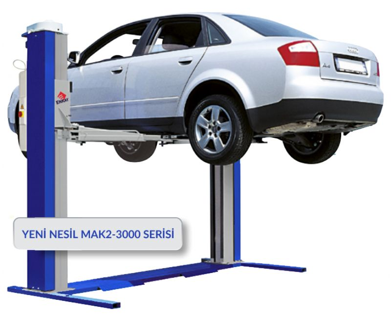 İki Sütunlu Elektro Mekanik Lift 3 Ton(MAK2-3000)