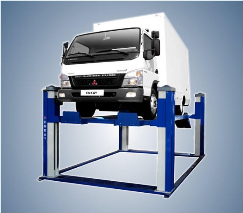 Minibüs, Midibüs, Kamyonet vs Araçlar İçin 4 Sütunlu Oto Lift 5 Ton