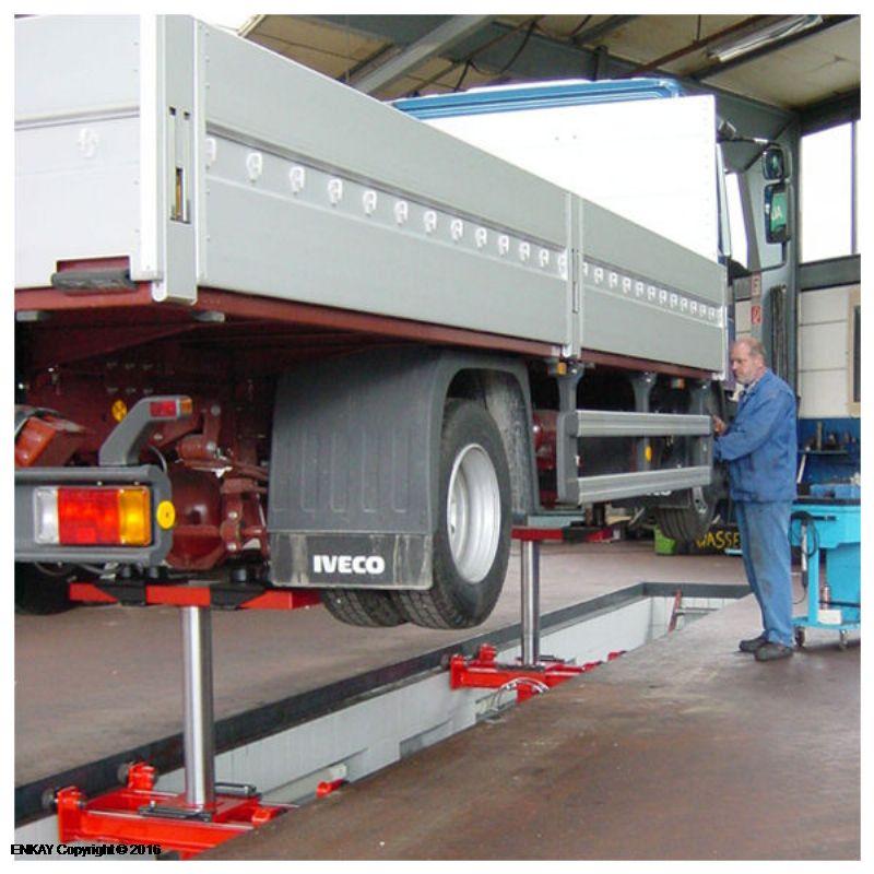 Kamyonlar Ve Ağır Ticari Araçlar İçin Kanal Krikosu - 12 ton - Manuel(FCH-HGH.12-750-90)