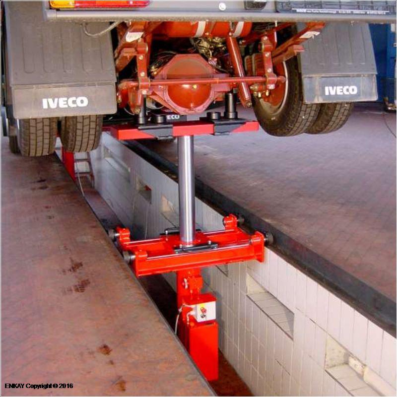 Kamyonlar Ve Ağır Ticari Araçlar İçin Kanal Krikosu - Elektrikli ve Hidrolik - 20 Ton(FCH-MGK.20-600-120)