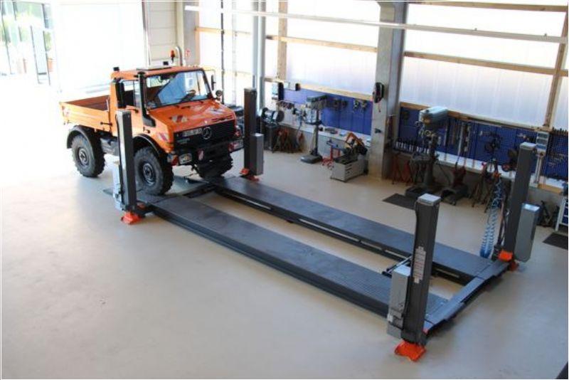 Ticari Araçlar İçin 4 Sütunlu Sabit Platform Lift - 12 Ton (Kapasite) / 10000 mm (Pist uzunluğu)(FKB-HDP12-10000)
