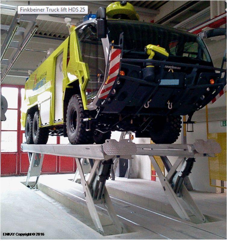 Ticari Araçlar İçin Yarı Makaslı Sabit Platform Lift - 25 ton/10000 mm(FKB-HDS25-10000Single)