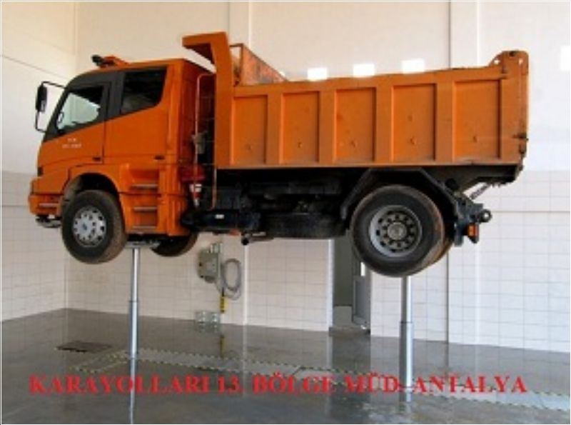 Kamyon, Otobüs ve Ağır Vasıta Araçlar İçin 2 Silindirli Gömülü Lift - 2x14 ton - Teleskopik(FCH-TH.10-2-B)