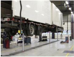 Kamyon, Otobüs ve Ağır Vasıta Araçlar İçin 3 Silindirli Gömülü Lift - 3x14 ton - Teleskopik(FCH-TH.10-3-B)