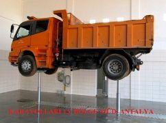 Kamyon, Otobüs ve Ağır Vasıta Araçlar İçin 2 Silindirli Gömülü Lift