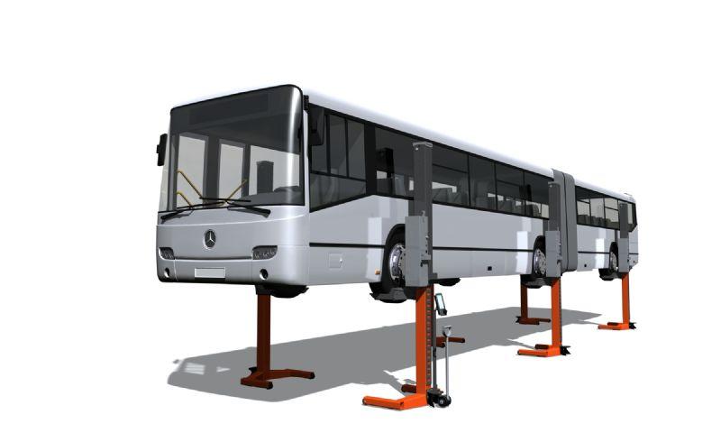 Tır, Ticari Kamyon ve Otobüsler İçin 6 Sütunlu Mobil Lift(FKB-EHB1005V11DC-6wireless)
