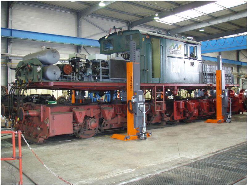 Demir Yolu Taşıtları İçin Mobil Sütunlu Lift - 12 Ton(FKB-EHB812KDC-wireless)