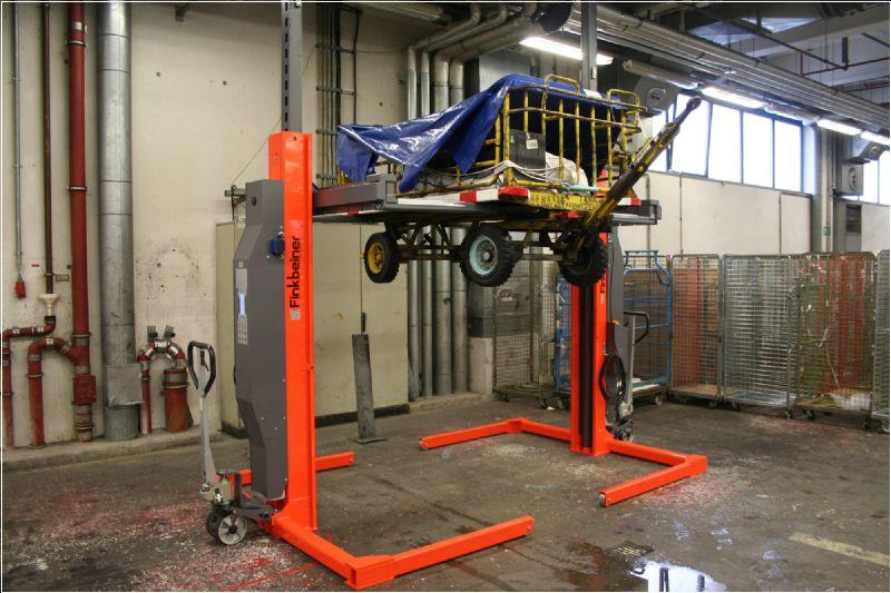 Hava Alanı Yer Hizmetleri Araçları İçin 2 Sütunlu Mobil Lift(FKB-EHB1001DC-2-PR112-wireless)