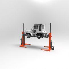 Hava Alanı Yer Hizmetleri Araçları İçin 2 Sütunlu Mobil Lift(FKB-EHB706G1DC-2-wireless)