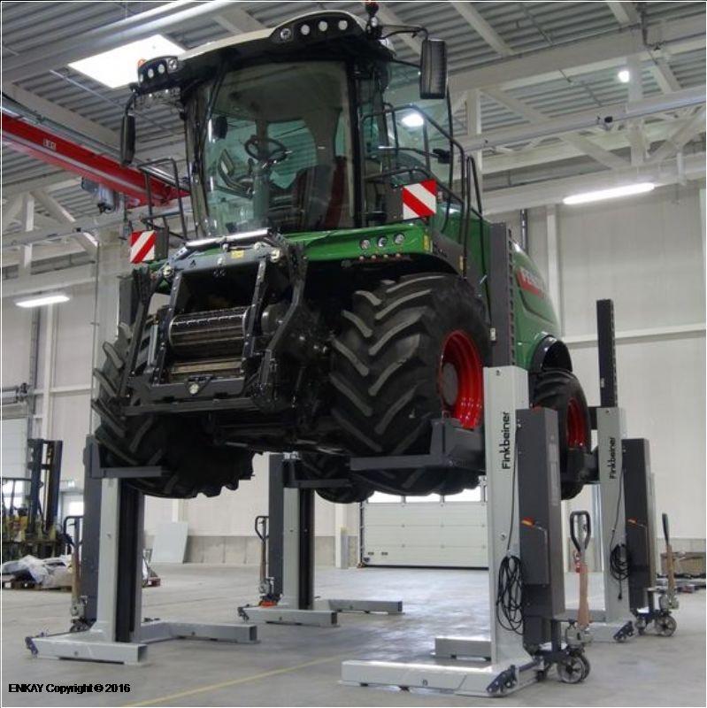 Tarım Araçları İçin 4 Sütunlu Mobil Lift(FKB-EHB707V25DC-4-PR407-wireless)