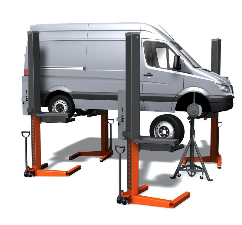 Ticari Araçlar İçin 4 Sütunlu Mobil Lift(FKB-EHB1002V11DCA-4-wireless)