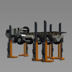 Ağır Ticari ve Özel Araçlar İçin 6 Sütunlu Mobil Lift(FKB-EHB907V14DC-6wireless)