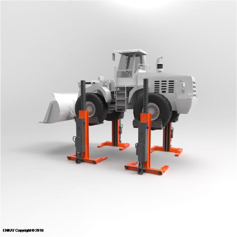 İnşaat Araçları İçin 4 Sütunlu Mobil Lift(FKB-EHB710V19DC-4-PR399wireless)