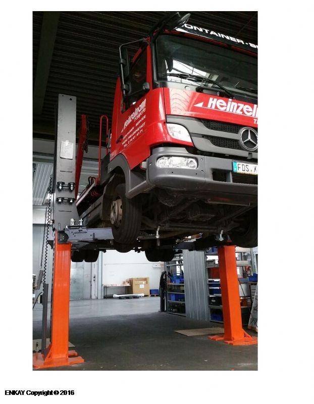 Otomobil, Minibüs ve Kamyonetler İçin Sabit İki Sütunlu Lift - 9 Ton(otomobiller, kamyonetler ve hafif ticari araçlar için) (FKB-TPL9000)